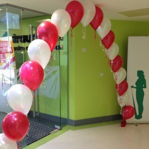 Single line balloon arch